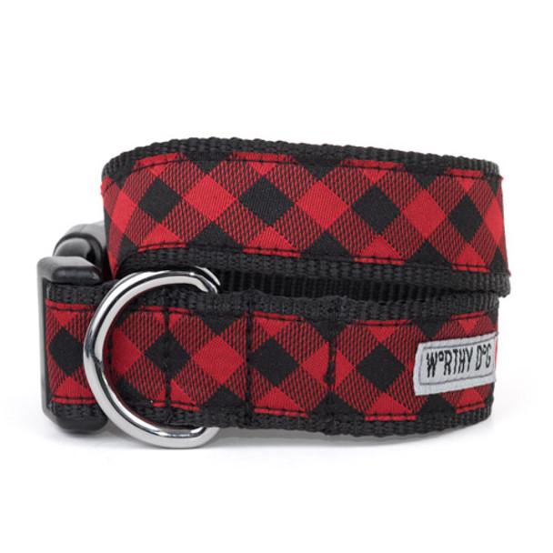 Bias Buffalo Plaid Pet Dog & Cat Collar & Optional Lead