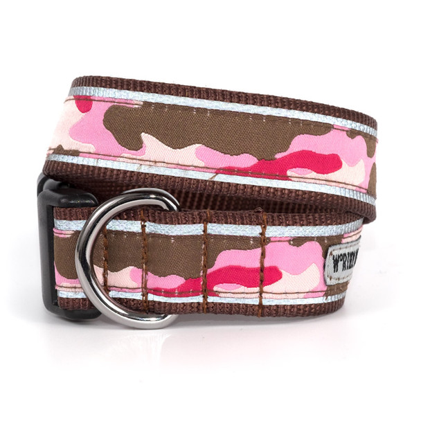 Camo Pink Pet Dog Collar & Optional Lead
