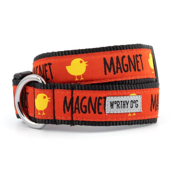 Chick Magnet Pet Dog Collar & Optional Lead