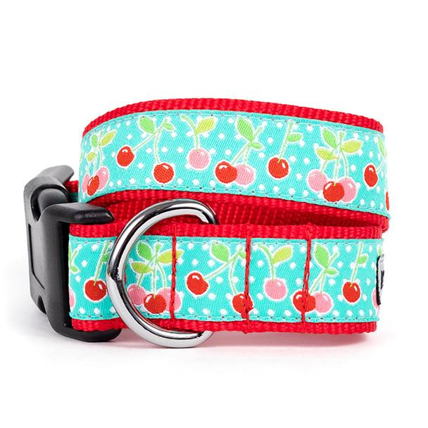 Cherries Pet Dog Collar & Optional Lead