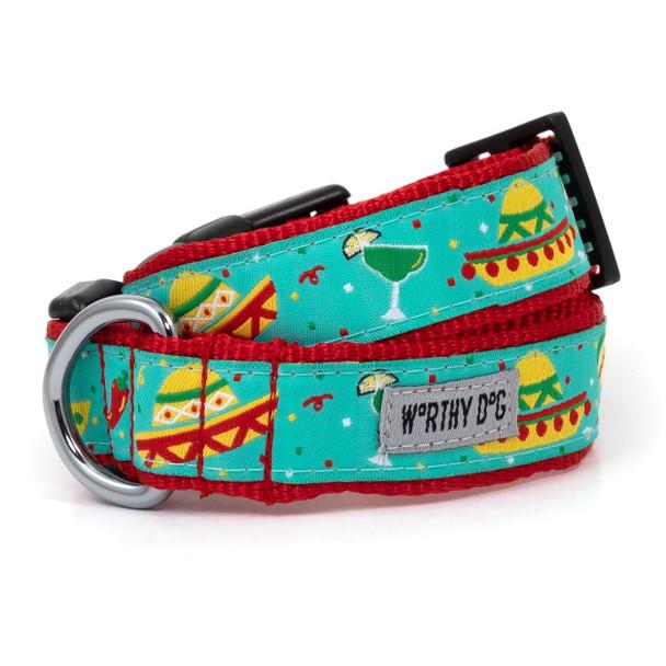 Cinco de Mayo Pet Dog Collar & Optional Lead