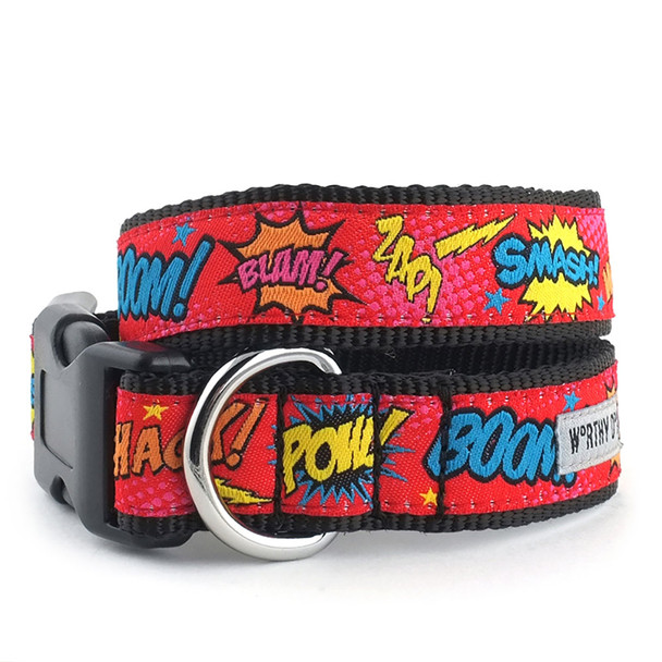Comic Strip Pet Dog Collar & Optional Lead