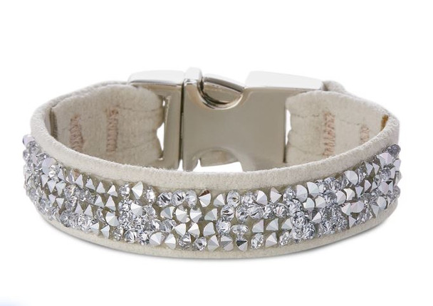 Crystal Rock Crystals Perfect Fit Pet Dog Collar - Over 40 Colors