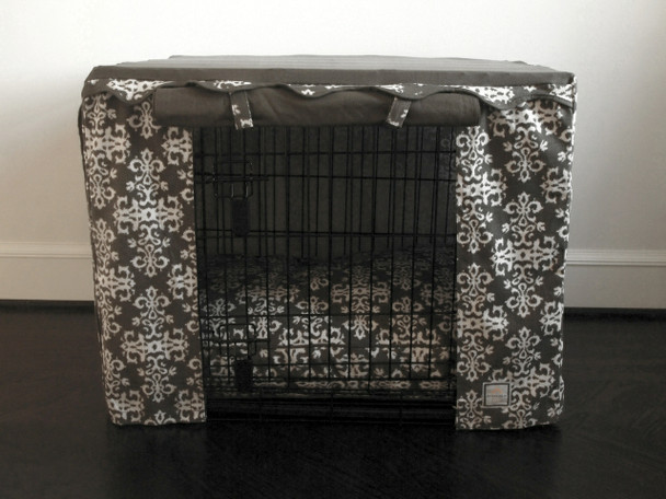 Crate Cover - Elegancia Gray & Optional Bed