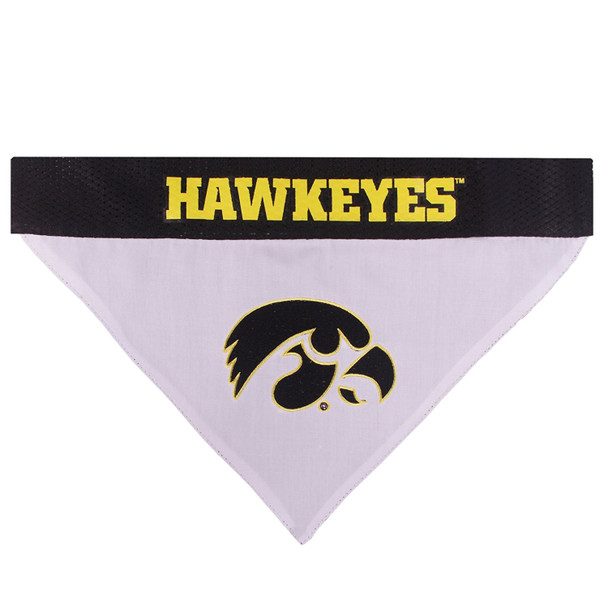 Iowa Hawkeyes Pet Reversible Bandana
