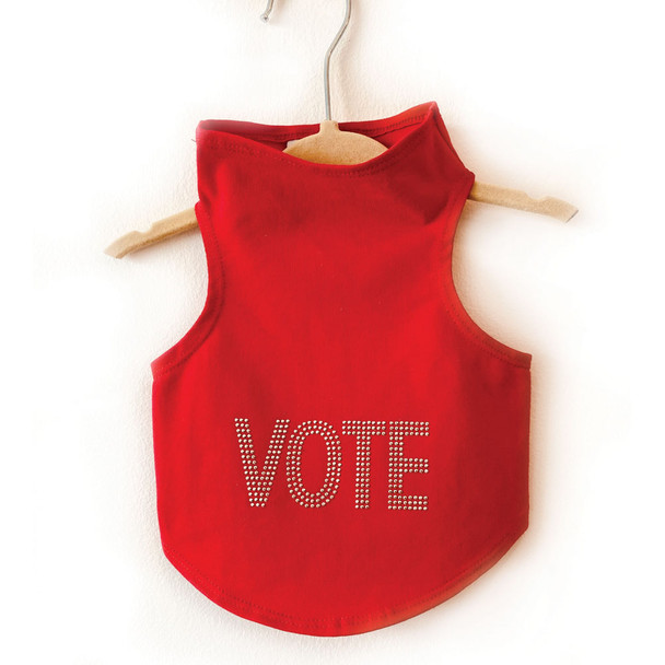 VOTE in Solid Silver Studs Dog Tank