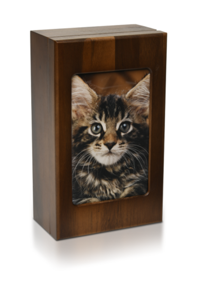 5″ x 7″ Wooden Photo Memory Urn Box – The Willoughby
