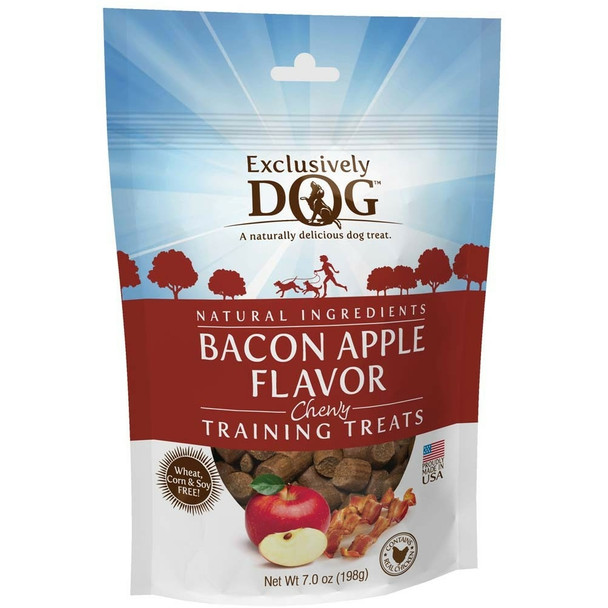 Exclusively Pet Training Treats Bacon and Apple Flavor