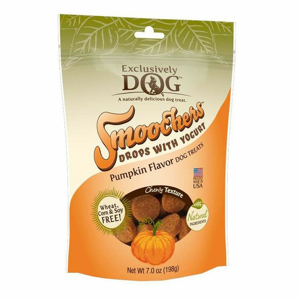 Exclusively Pet Smoochers Yogurt Drops Pumpkin Flavor Dog Treats