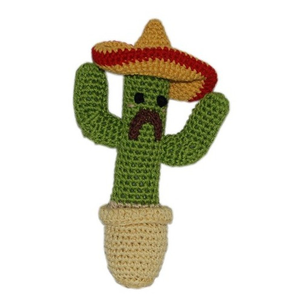 Cactus Organic Cotton Crocheted Dog Toys