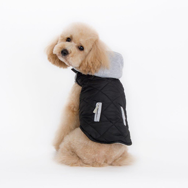 City Puffer Pet Dog Jacket - Black