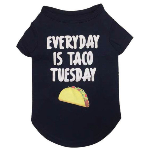 Taco Tuesday Dog T-shirt - Heather Blue