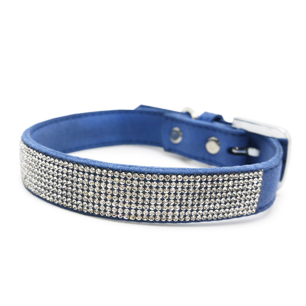 VIP Bling Pet Dog Collar - Royal Blue