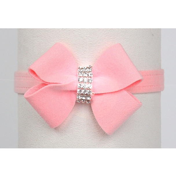 Puppy Pink Nouveau Bow Dog Collar by Susan Lanci - In Stock