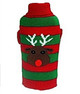 Rudolph Striped Christmas Dog Sweater