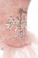 Designer Silver Snowflake Tutu Dog Dress