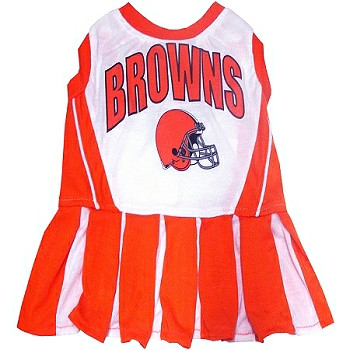 05b627b0c Cleveland Browns Cheerleader Dog Dress ...