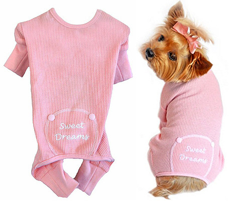 e4ba1bacee8b Pink Sweet Dreams Thermal Dog Pajamas