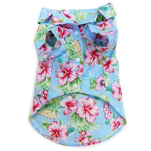 Tropical Dog Camp Shirt - Blue ... d86ee61a4b84