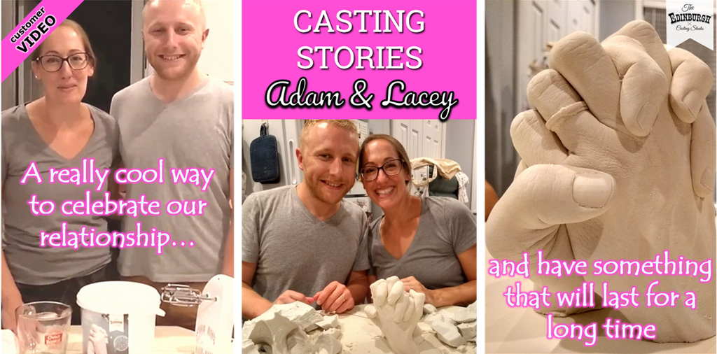 USA Couple Hand Casting Story: Adam & Lacey