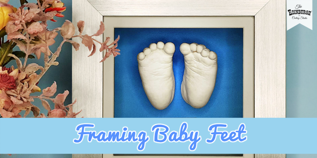 How to Frame Baby Feet Casts