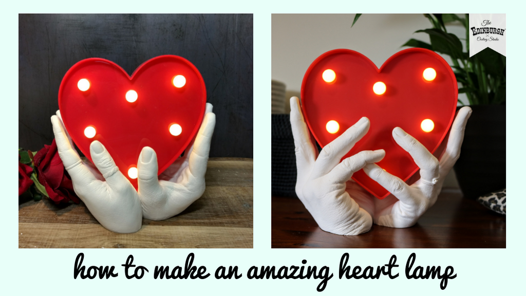 ​How to Create an Amazing Hand Cast Heart Lamp