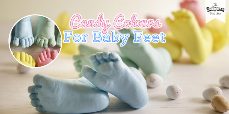 How to Add Colour to Baby Feet Casts