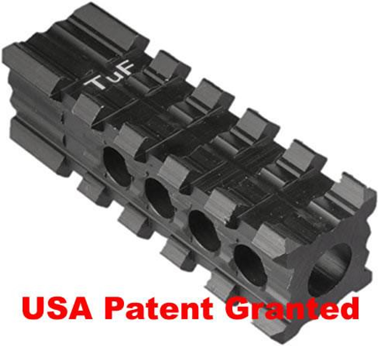Tufforce 4-side Rail Muzzle Brake for AR15 / M16 / M4, 5 slots, Fit for  1/2
