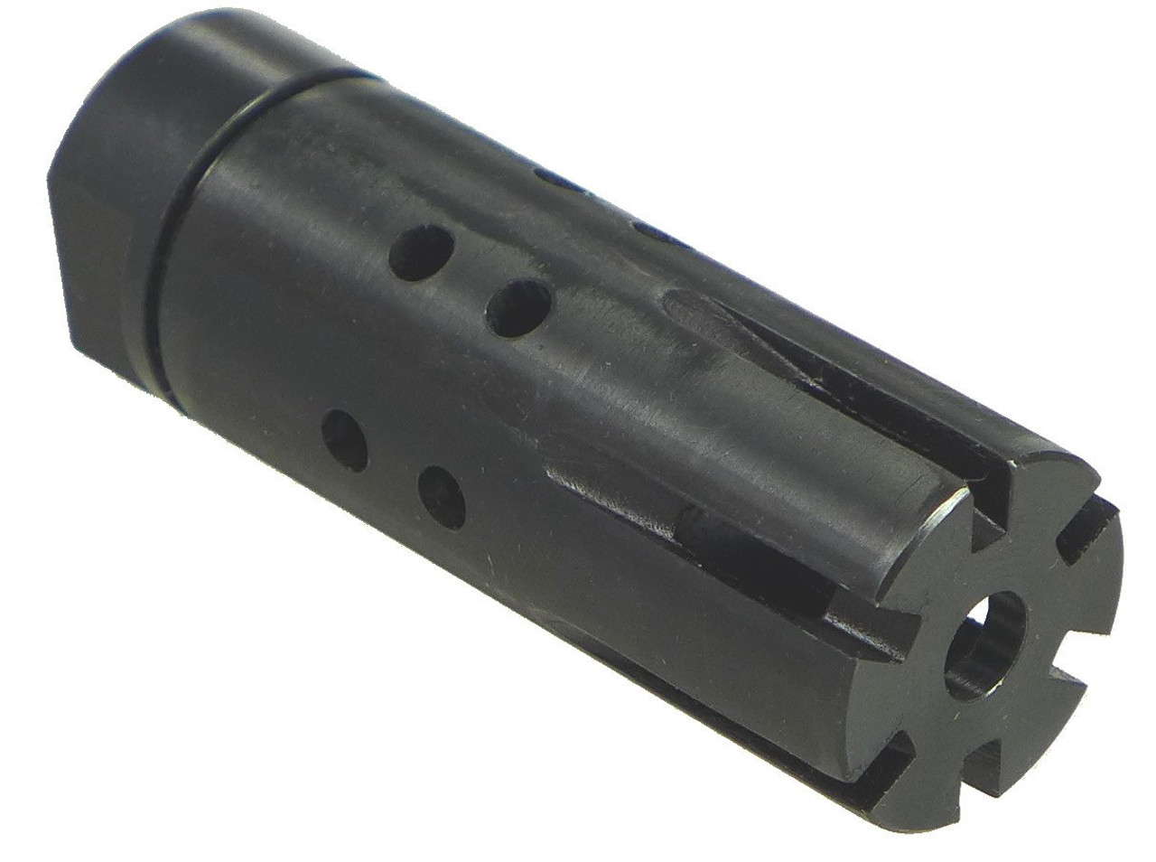 Two piece Muzzle Brake with adapter 13/16-16 To Thread 1/2