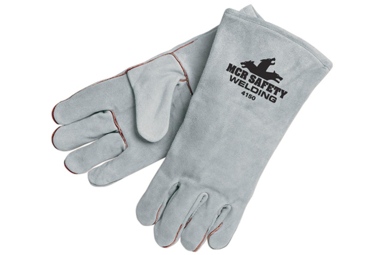 Leather welding work glove