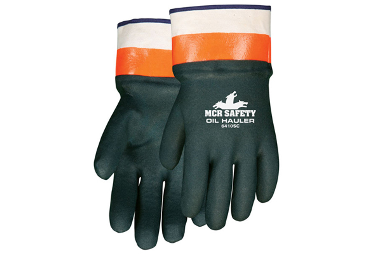 oil hauler double dipped safety glove