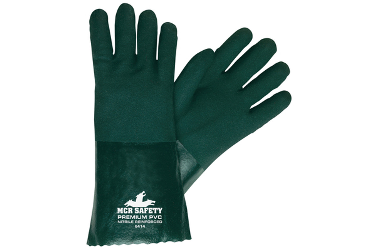 Premium Double dip PVC jersey glove