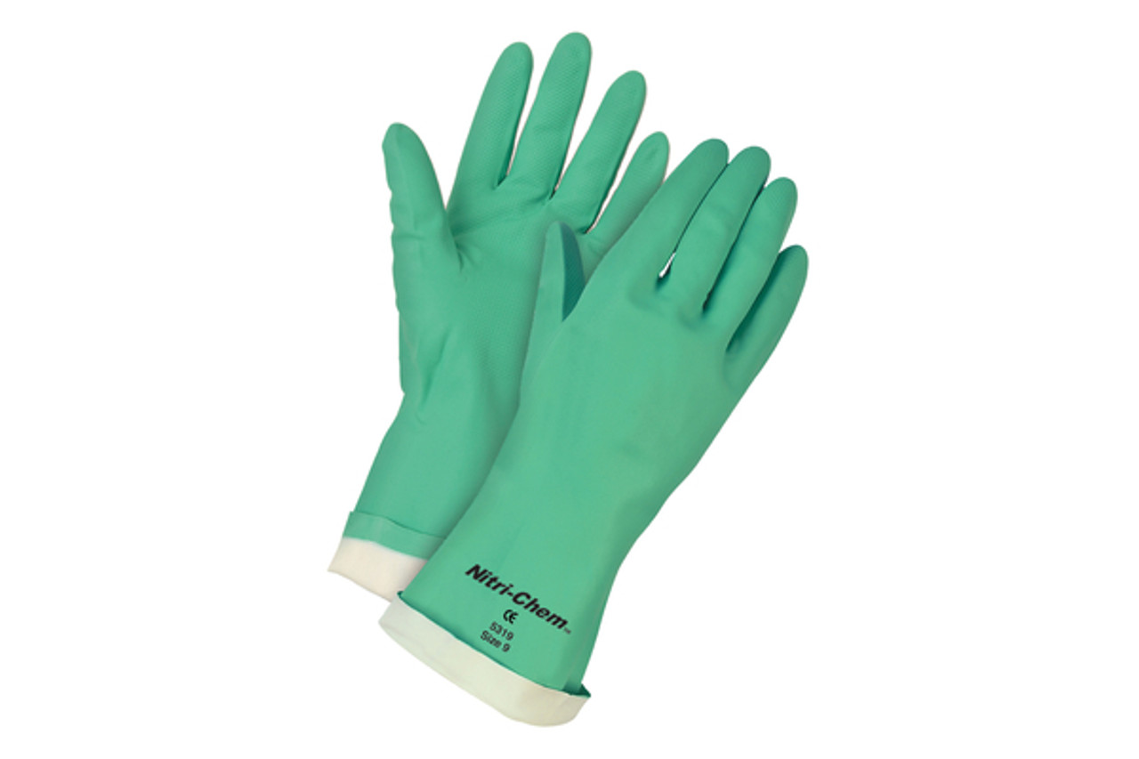 Nitri-Chem green nitrile glove