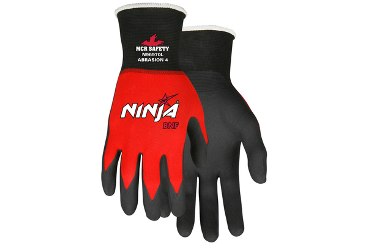 Ninja BNF with NFT coated safety glove