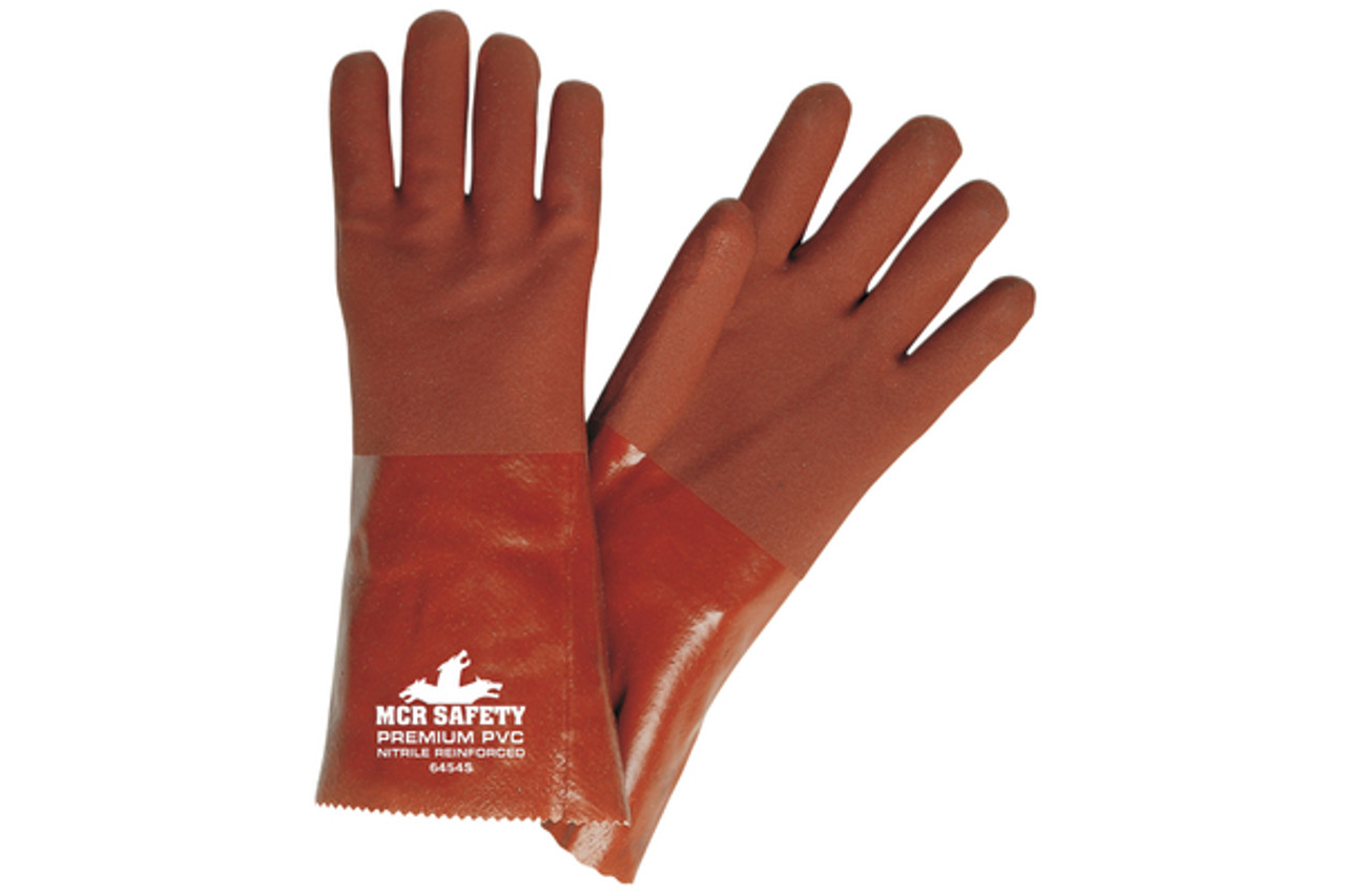 Premium red double dipped PVC glove