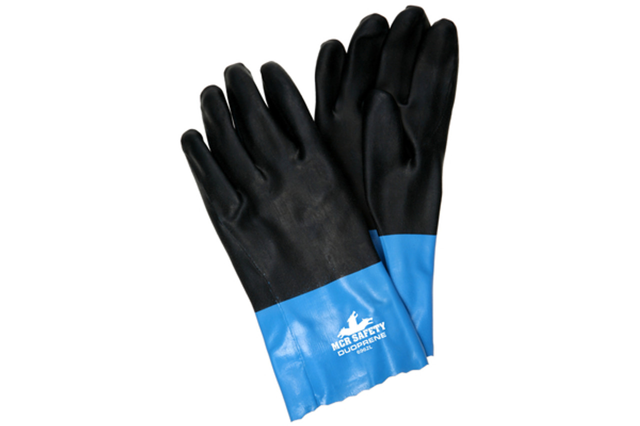 Duoprene black & blue gloves