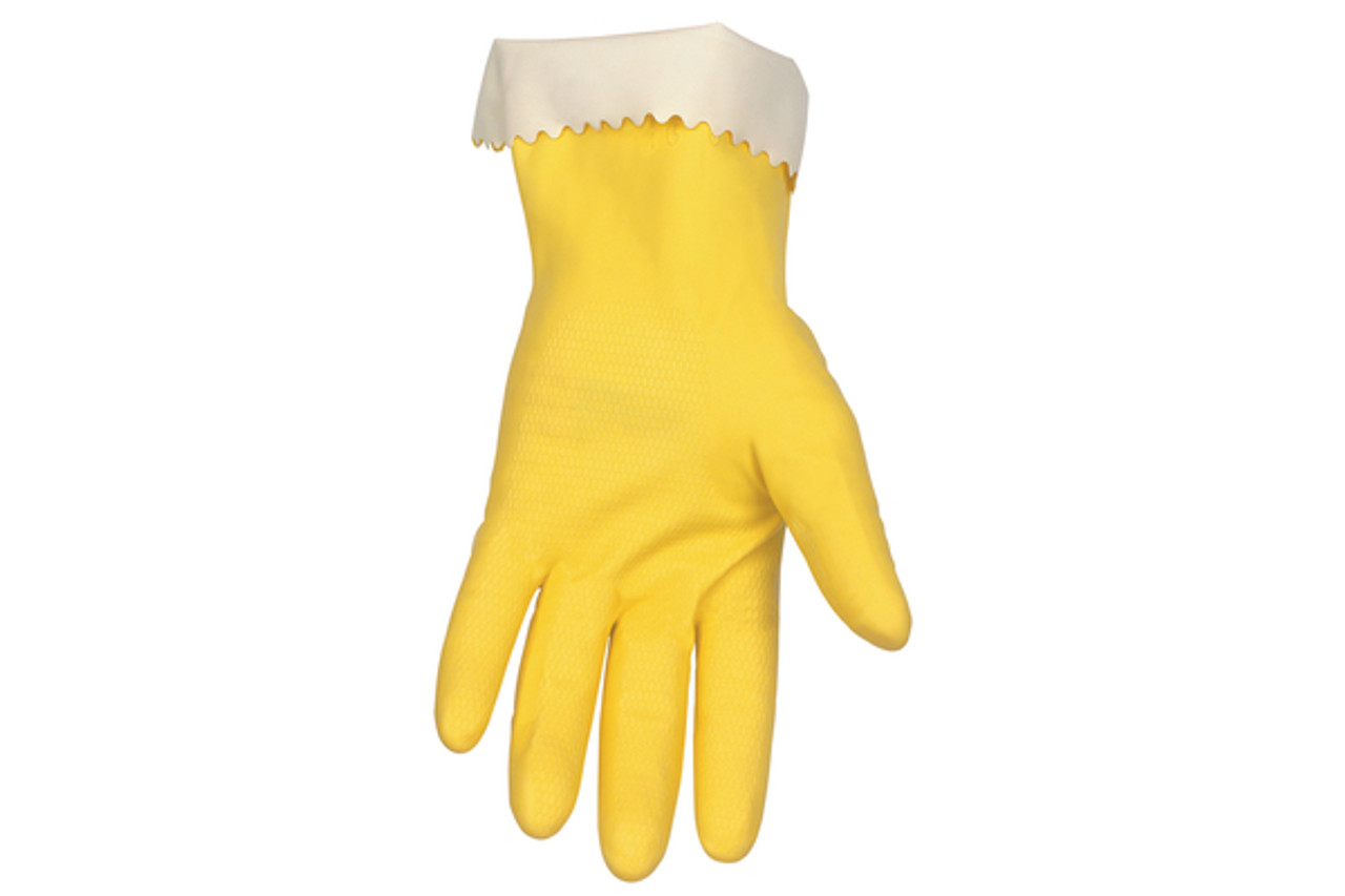 Yellow latex glove