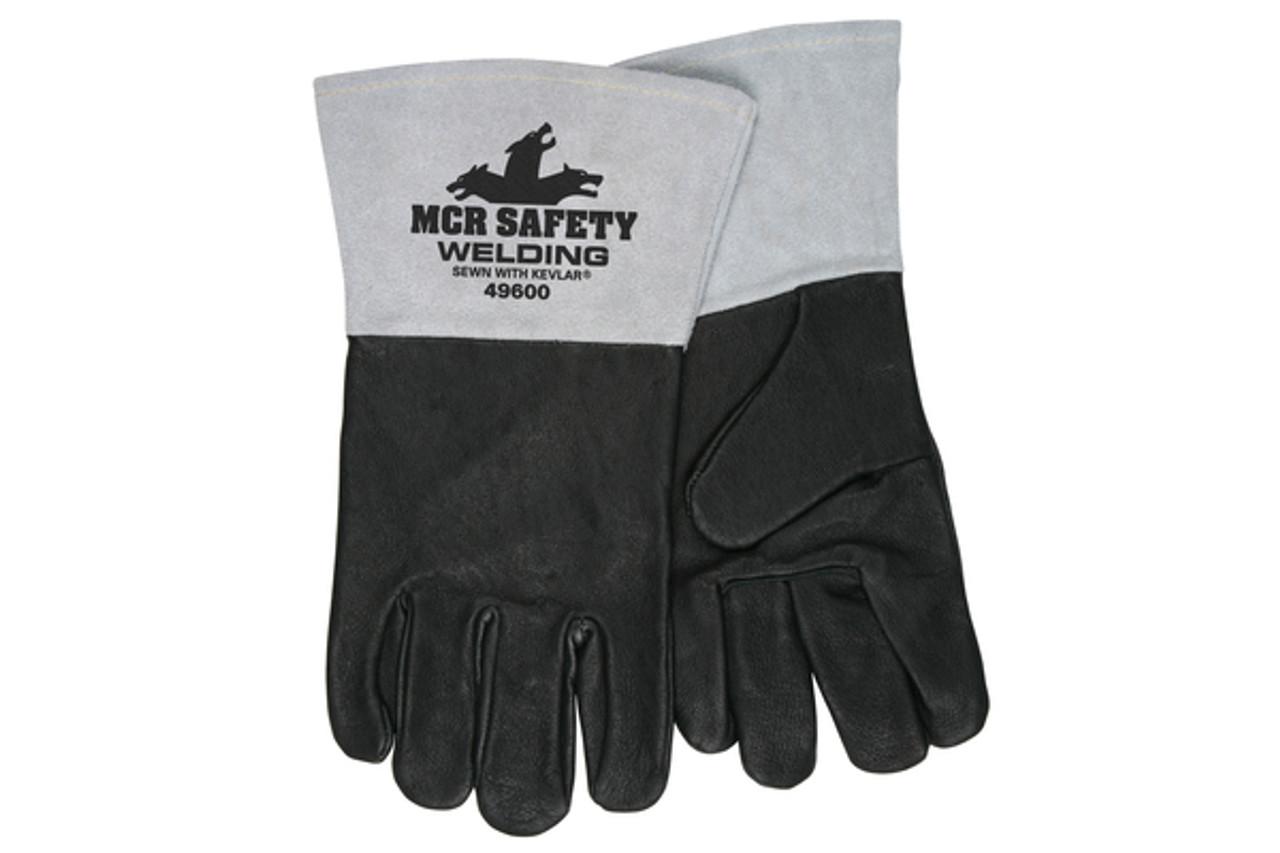 Black grain premium welding glove