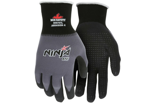 Ninja BNF glove with coated palm