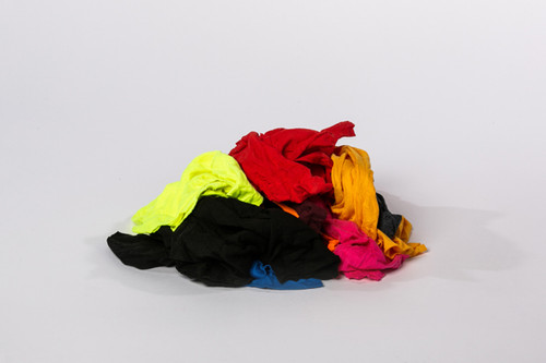 Box of 100/% Cotton Colored T-shirt Rags 50 LB