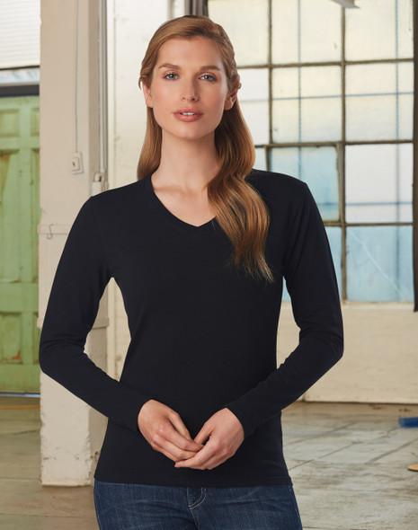 TS05A - Ladies Stretch Long Sleeve Tee