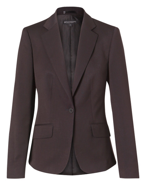 M9205 - Women's Poly/Viscose Stretch One Button Cropped Jacket
