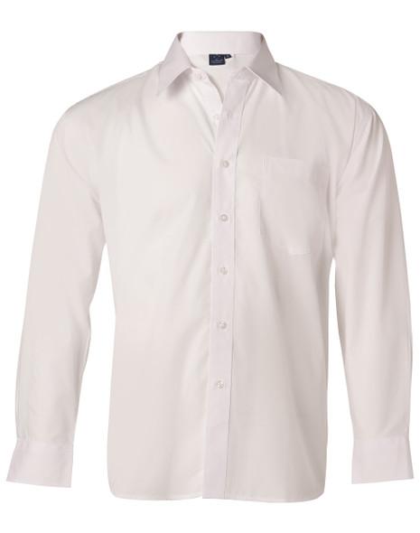 BS01L - Men's Poplin Long Sleeve Business Shirt