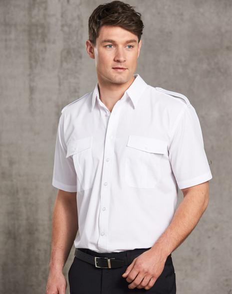 BS06S - Unisex Epaulette Short Sleeve Shirt