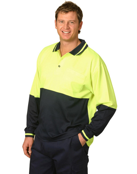 SW11 - TrueDry Long Sleeve Safety Polo