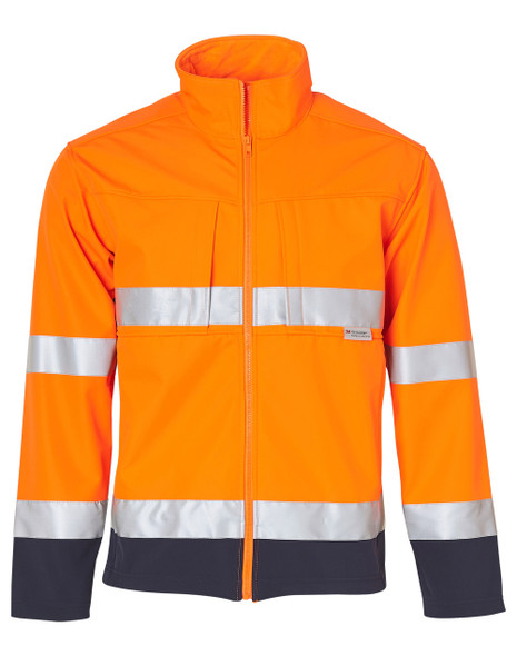 SW29 - High Visibility Two Tone Softshell Jacket with 3M Reflective Tapes