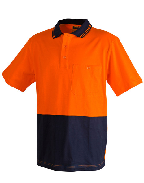 SW35 - Cotton Jersey Two Tone Safety Polo