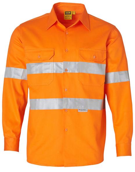 SW52 - Mens High Visibility Regular Weight Long Sleeve Drill Shirt