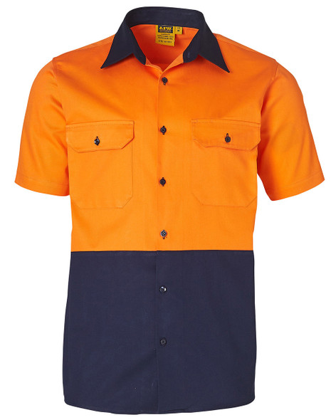 SW53 - Cotton Drill Safety Shirt