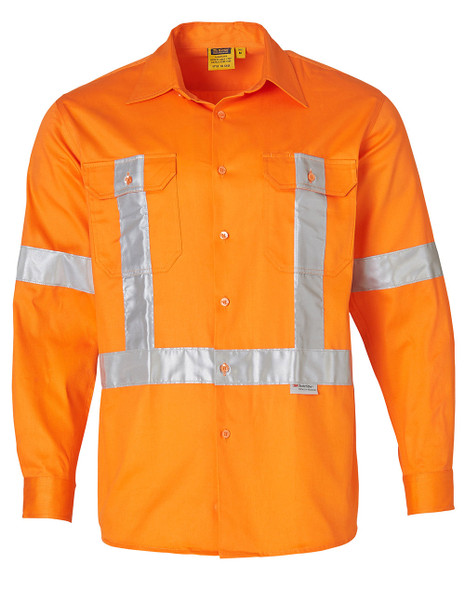 SW56 - Men's High Visibility Regular Weight Long Sleeve Drill Shirts